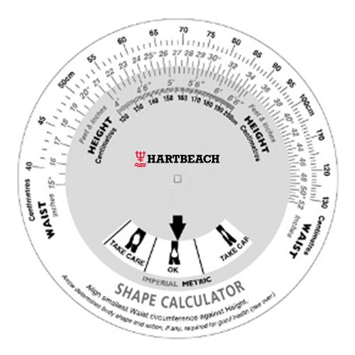 Bedrukte Body Shape Calculator
