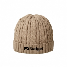 Bedrukte luxury cable hat