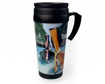 Bedrukte malabar photo travel mug